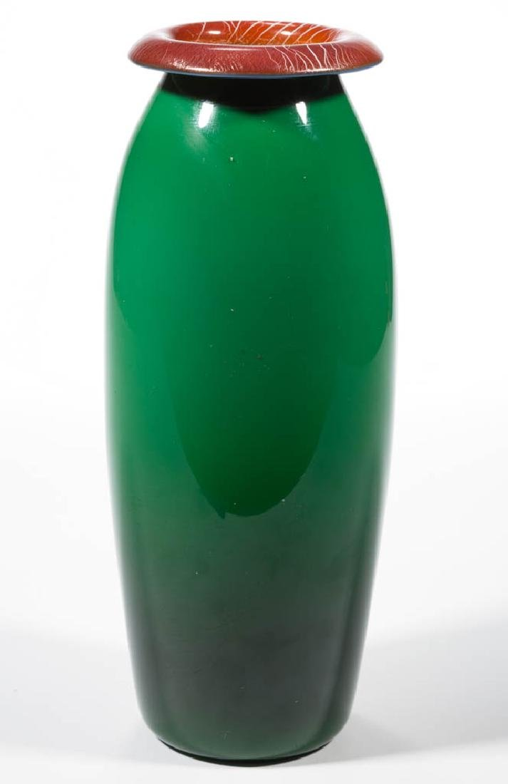 IMPERIAL FREE HAND ART GLASS VASE