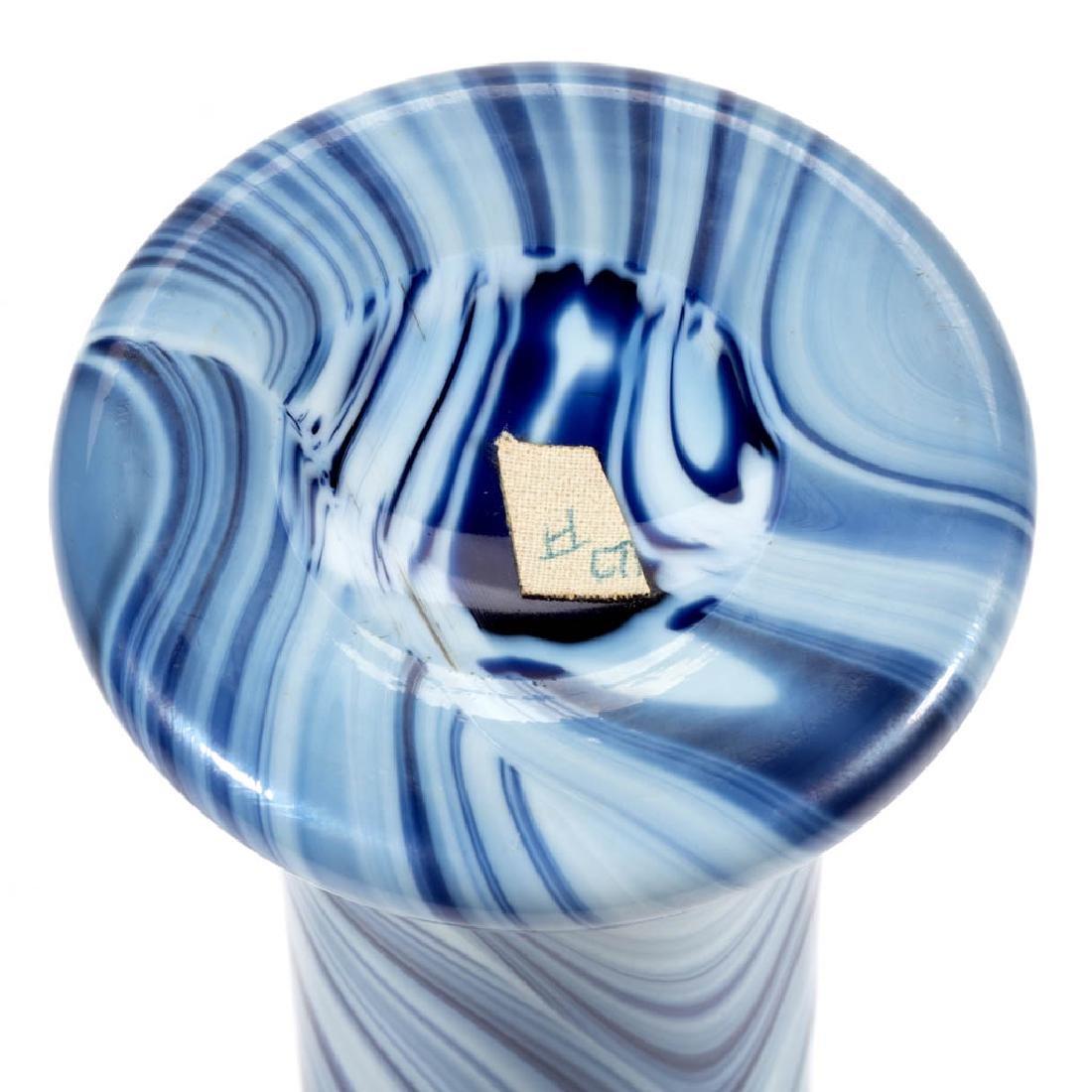IMPERIAL LEAD LUSTRE MARBLEIZED ART GLASS VASE - 3