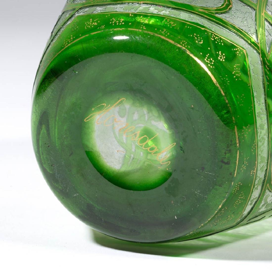 DORFLINGER HONESDALE FLORAL CAMEO ART GLASS VASE - 3