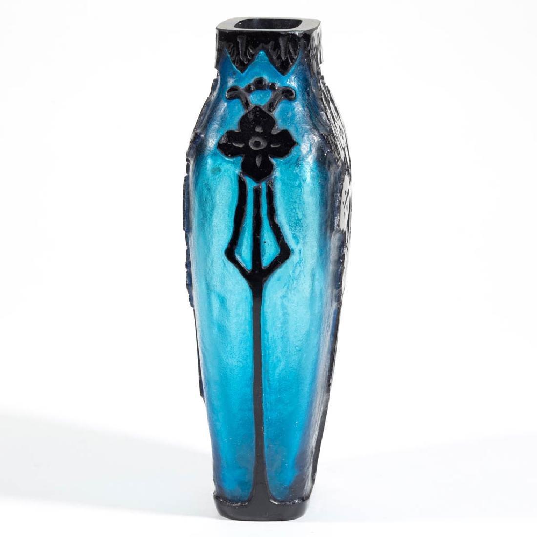 STEUBEN ACID-CUTBACK / CAMEO ART GLASS VASE - 2