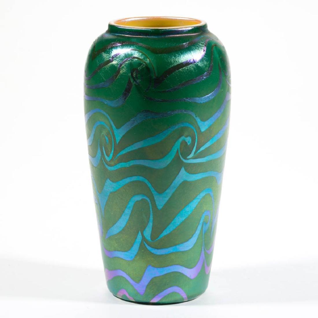 DURAND KING TUT ART GLASS VASE - 2