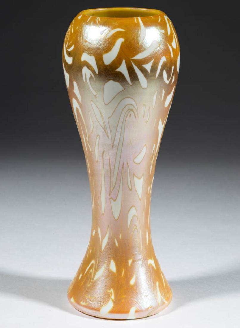 DURAND ATTRIBUTED COIL ART GLASS VASE