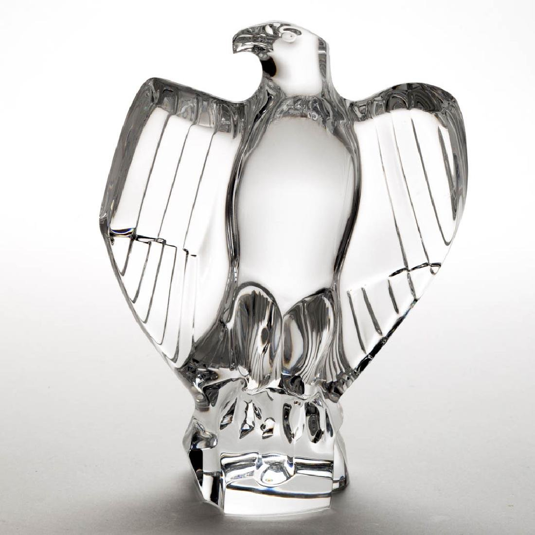 BACCARAT EAGLE CRYSTAL ART GLASS FIGURINE / PAPERWEIGHT