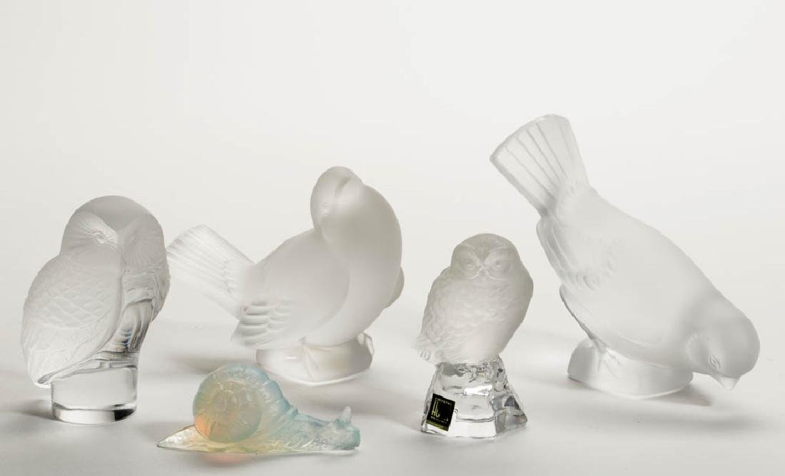 ASSORTED FRENCH FROSTED ART GLASS FIGURINES /