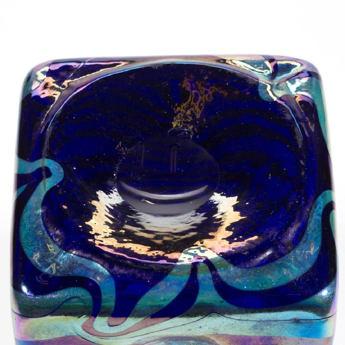 FRITZ HECKERT CHANGEART ART GLASS VASE - 3
