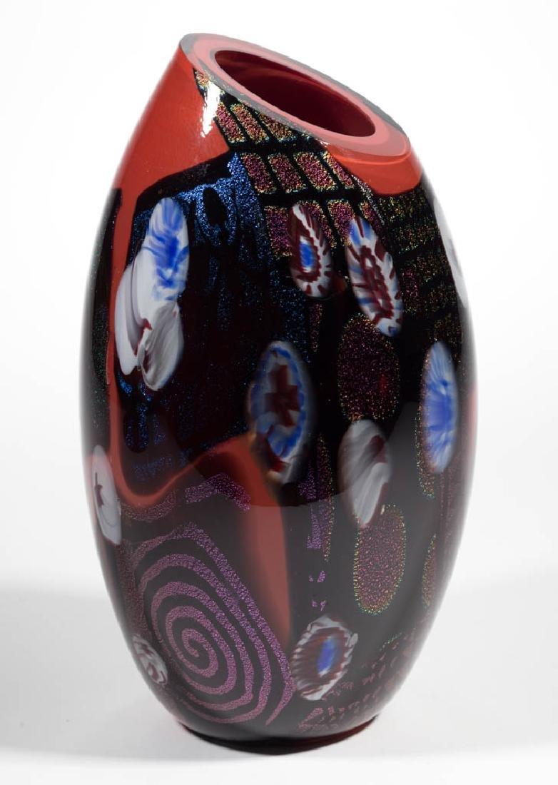 PETER VANDERLAAN DICHROIC STUDIO ART GLASS VASE