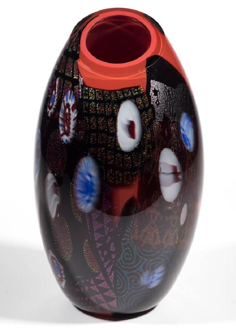 PETER VANDERLAAN DICHROIC STUDIO ART GLASS VASE - 2