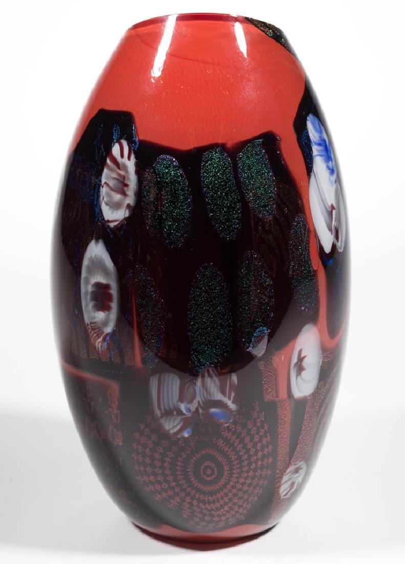 PETER VANDERLAAN DICHROIC STUDIO ART GLASS VASE - 4