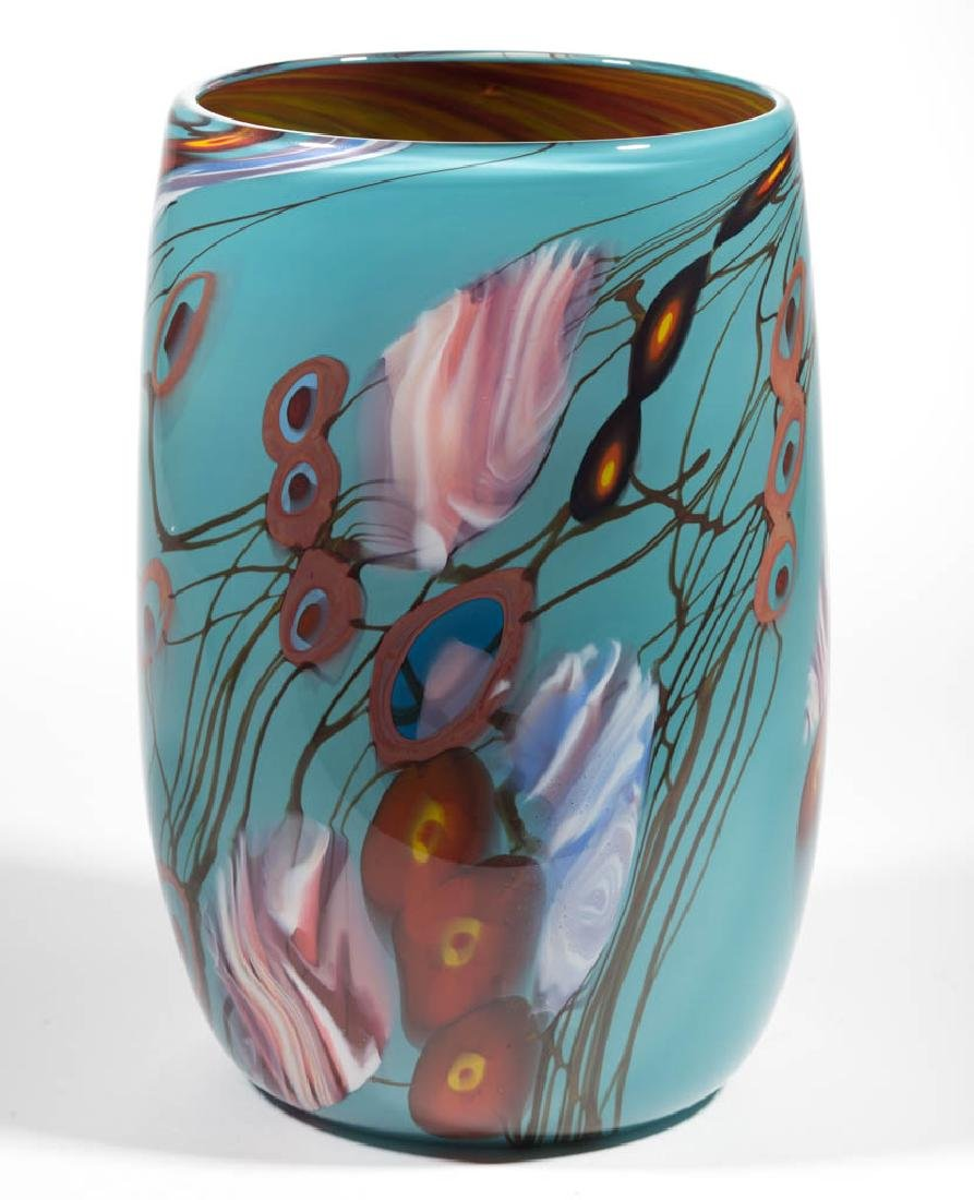 STEVE PALMER CASED STUDIO ART GLASS VASE