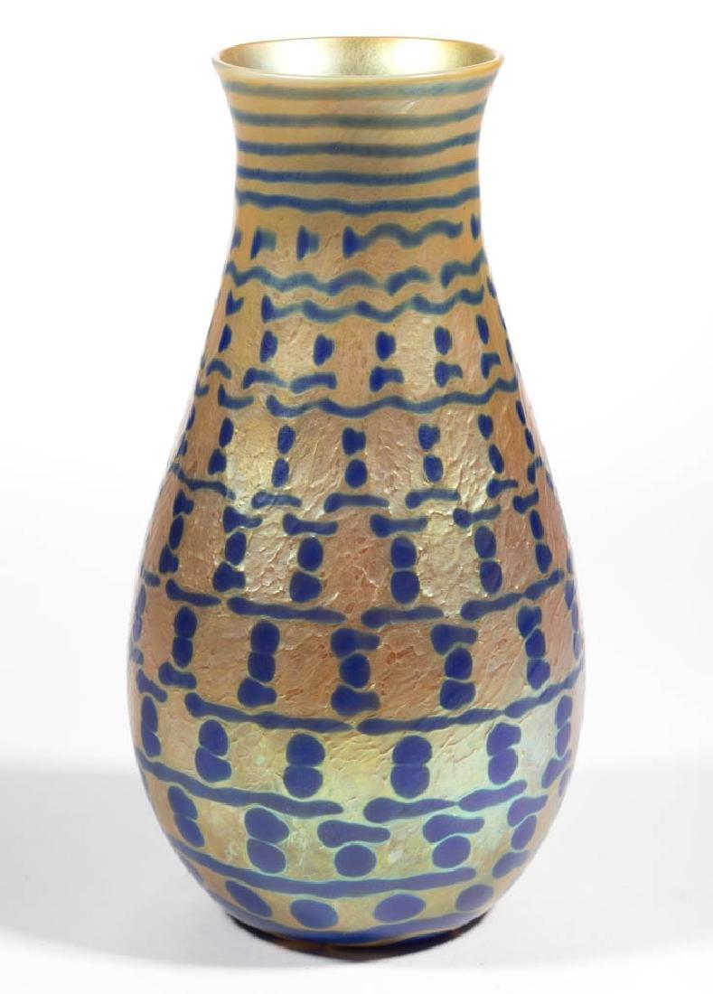 LUNDBERG STUDIOS GOLDEN IRIDESCENT STUDIO ART GLASS