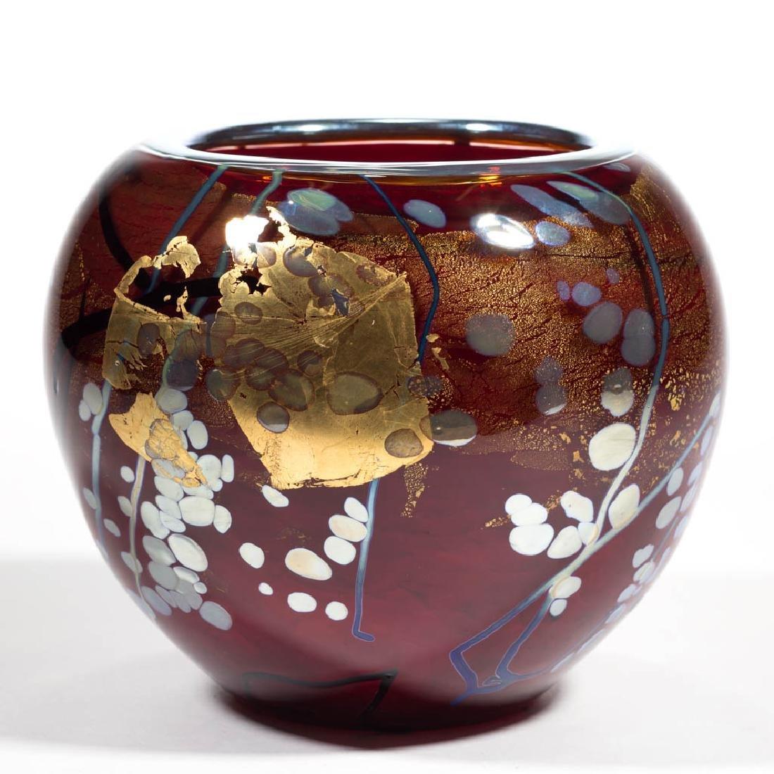 TIM LAZER SPLASH SERIES STUDIO ART GLASS VASE - 2
