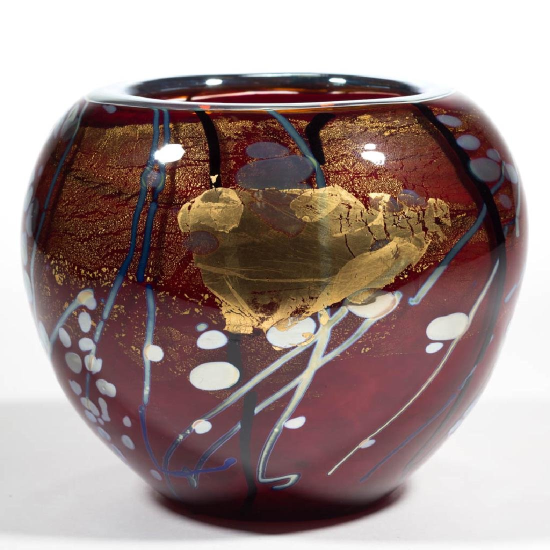 TIM LAZER SPLASH SERIES STUDIO ART GLASS VASE - 3