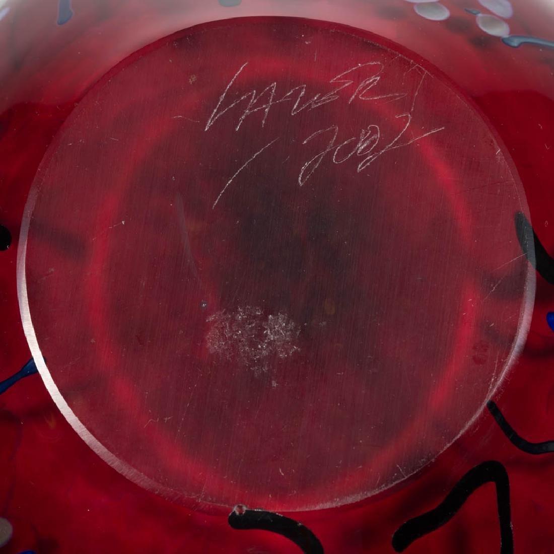 TIM LAZER SPLASH SERIES STUDIO ART GLASS VASE - 4