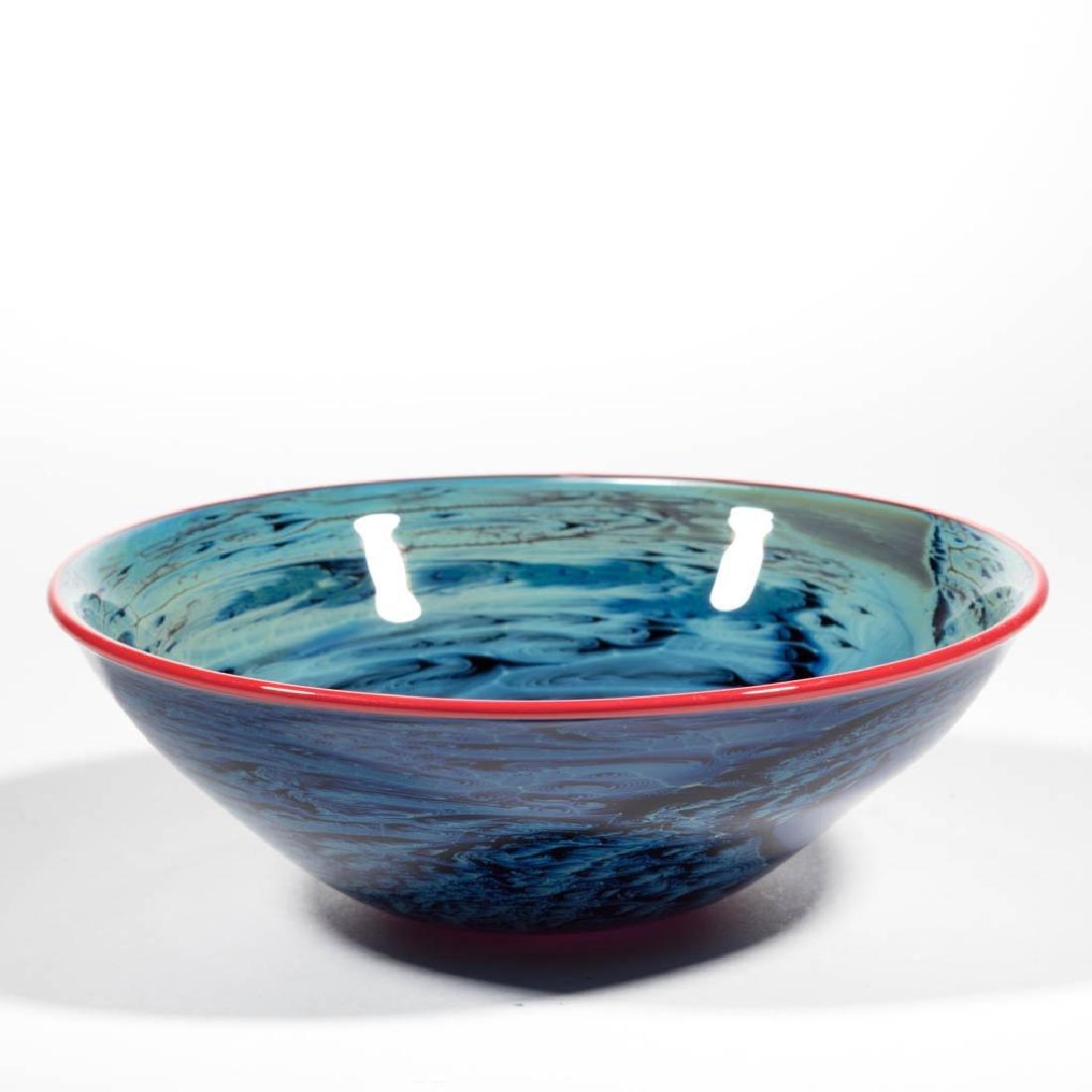 JOSH SIMPSON NEW MEXICO STUDIO ART GLASS BOWL