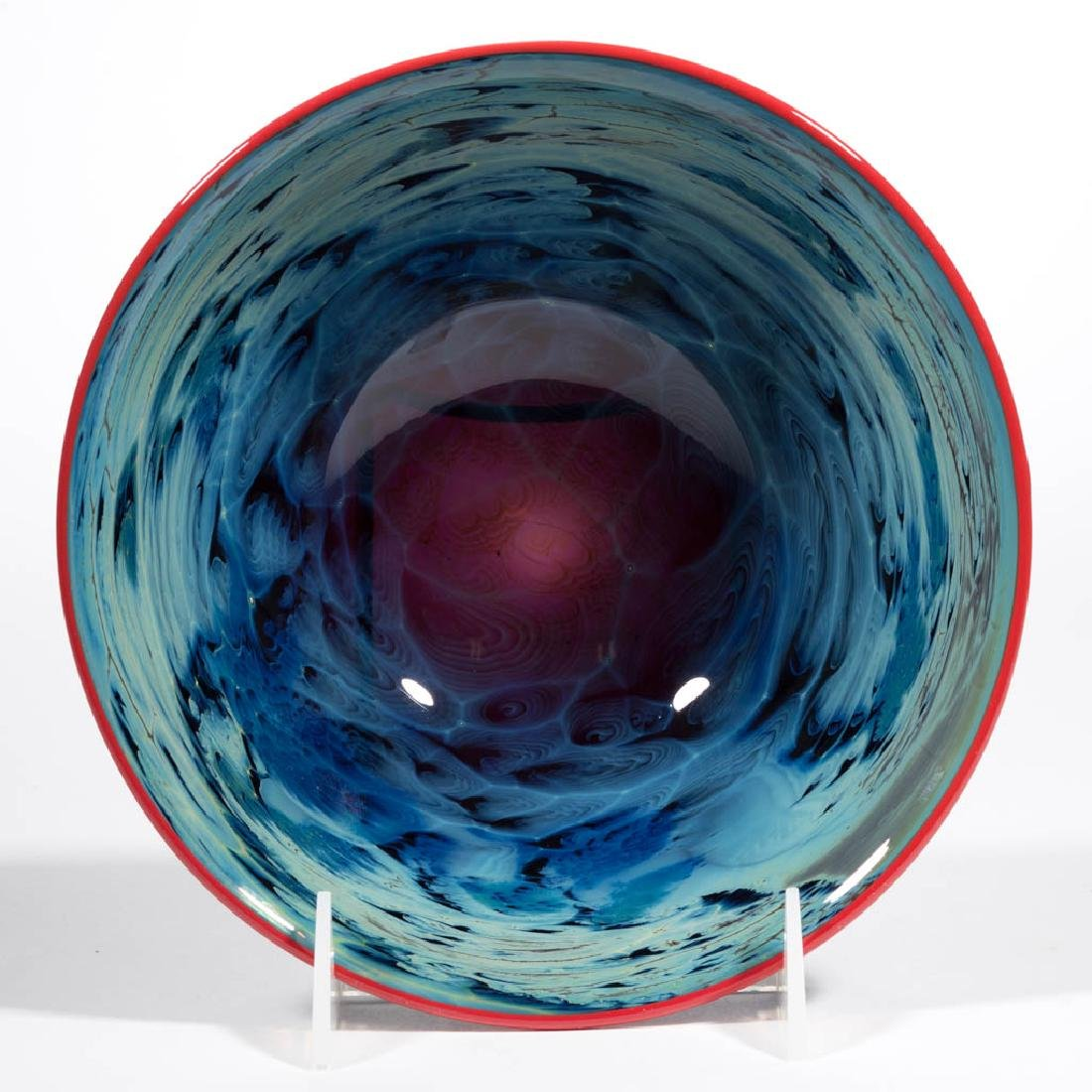 JOSH SIMPSON NEW MEXICO STUDIO ART GLASS BOWL - 2