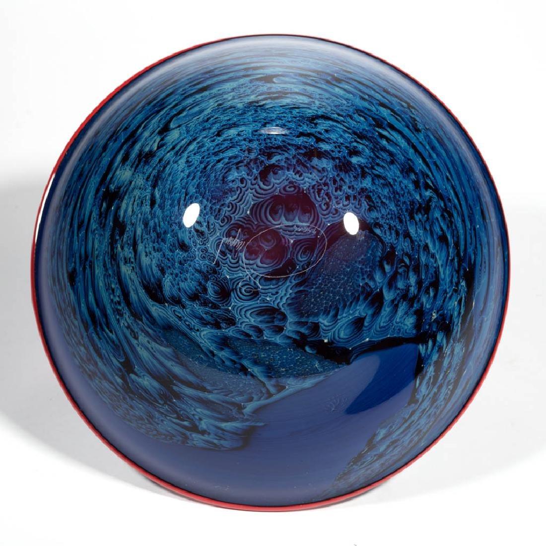 JOSH SIMPSON NEW MEXICO STUDIO ART GLASS BOWL - 3