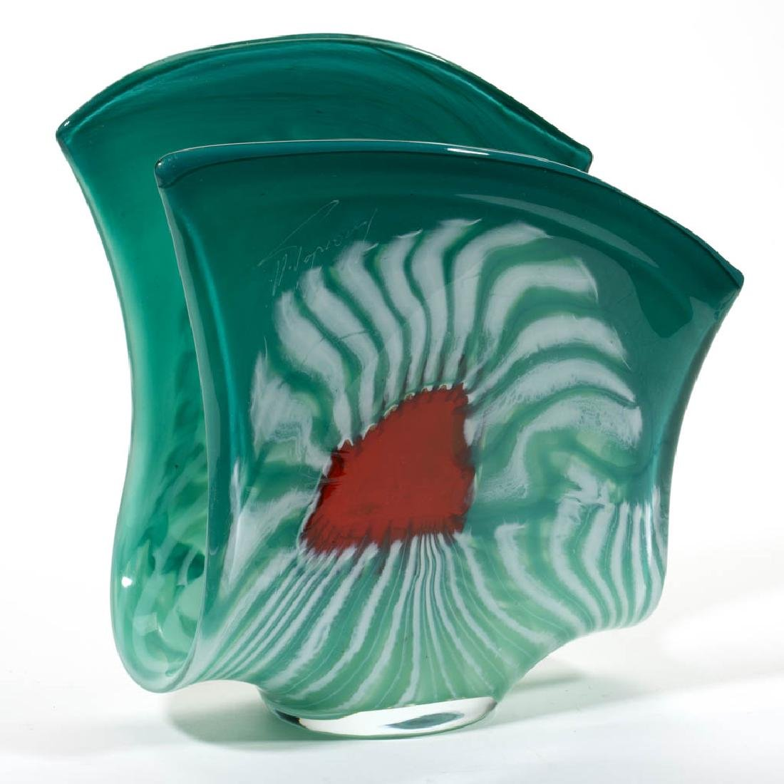 UNIDENTIFIED STUDIO ART GLASS SCULPTURE