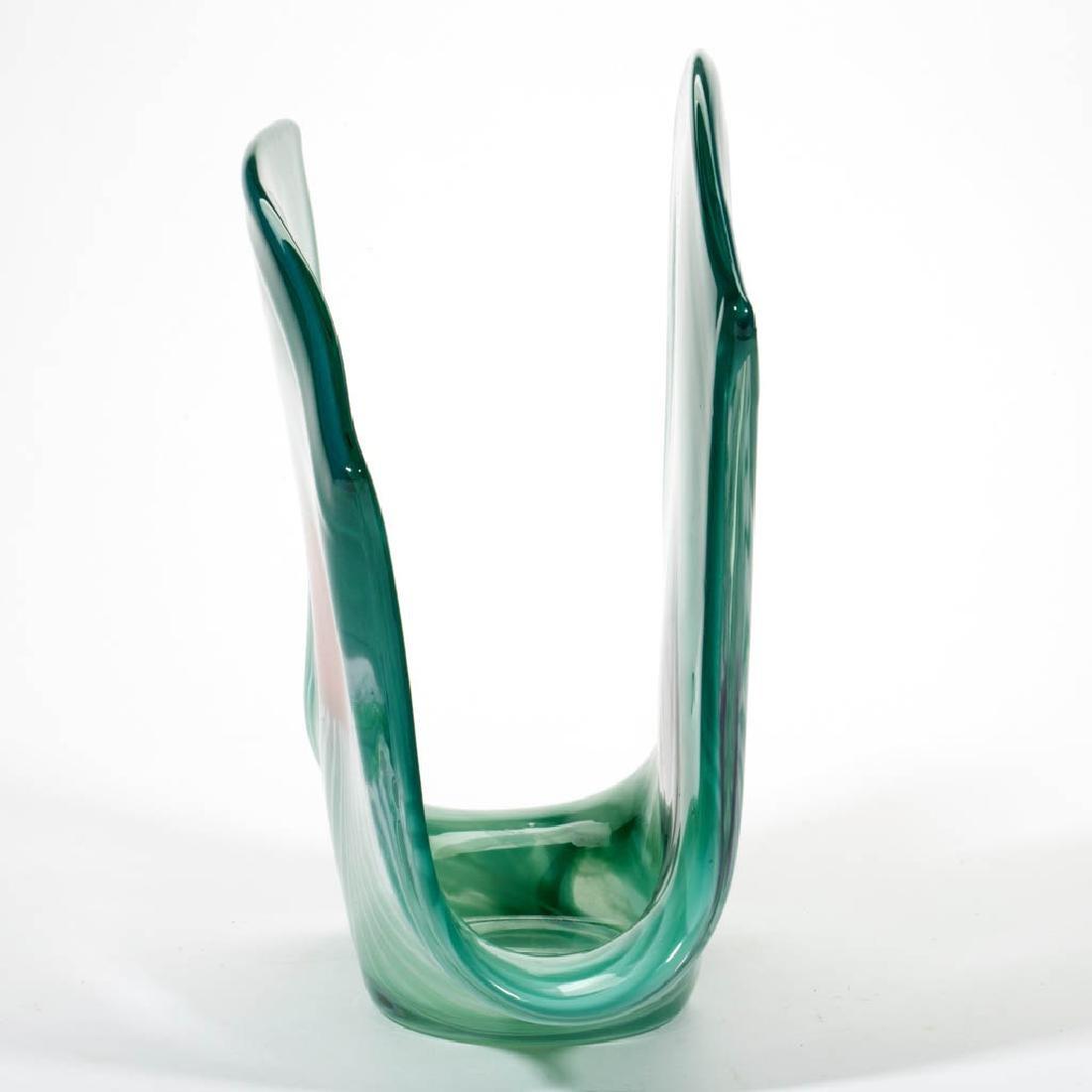 UNIDENTIFIED STUDIO ART GLASS SCULPTURE - 2