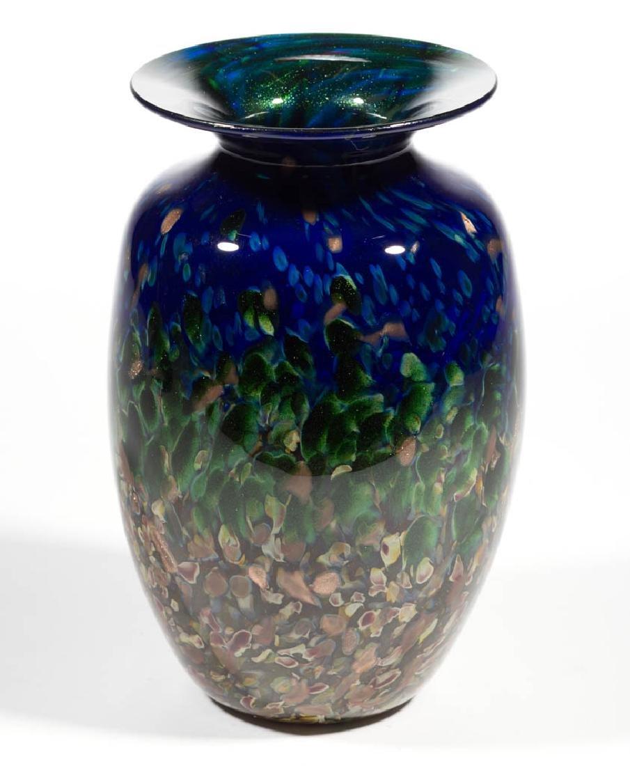 MAD ART MOTTLED STUDIO ART GLASS VASE