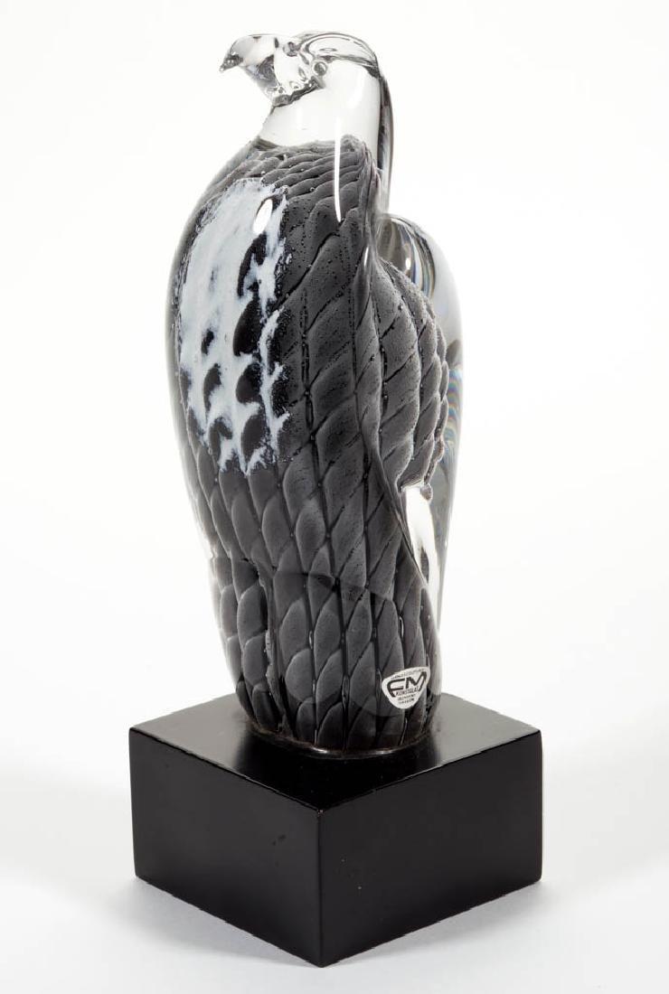 RONNEBY STUDIO ART GLASS EAGLE SCULPTURE