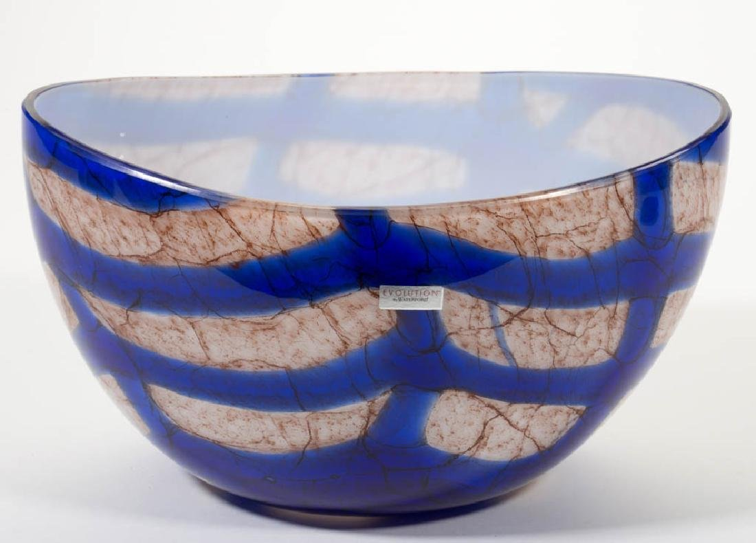 WATERFORD EVOLUTION CONTEMPORARY ART GLASS BOWL