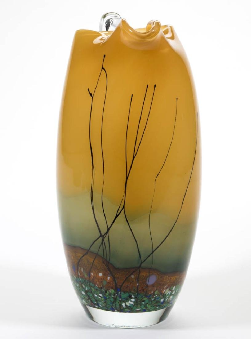 UNIDENTIFIED STUDIO ART GLASS PITCHER - 2