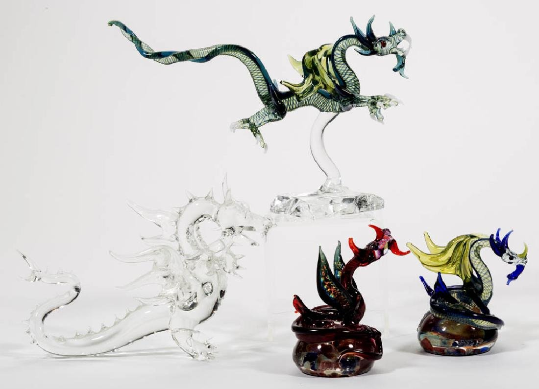 MILON TOWNSEND LAMPWORK DRAGON STUDIO ART GLASS