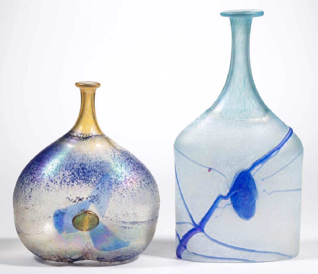 BERTIL VALLEIN / KOSTA BODA STUDIO ART GLASS BOTTLE