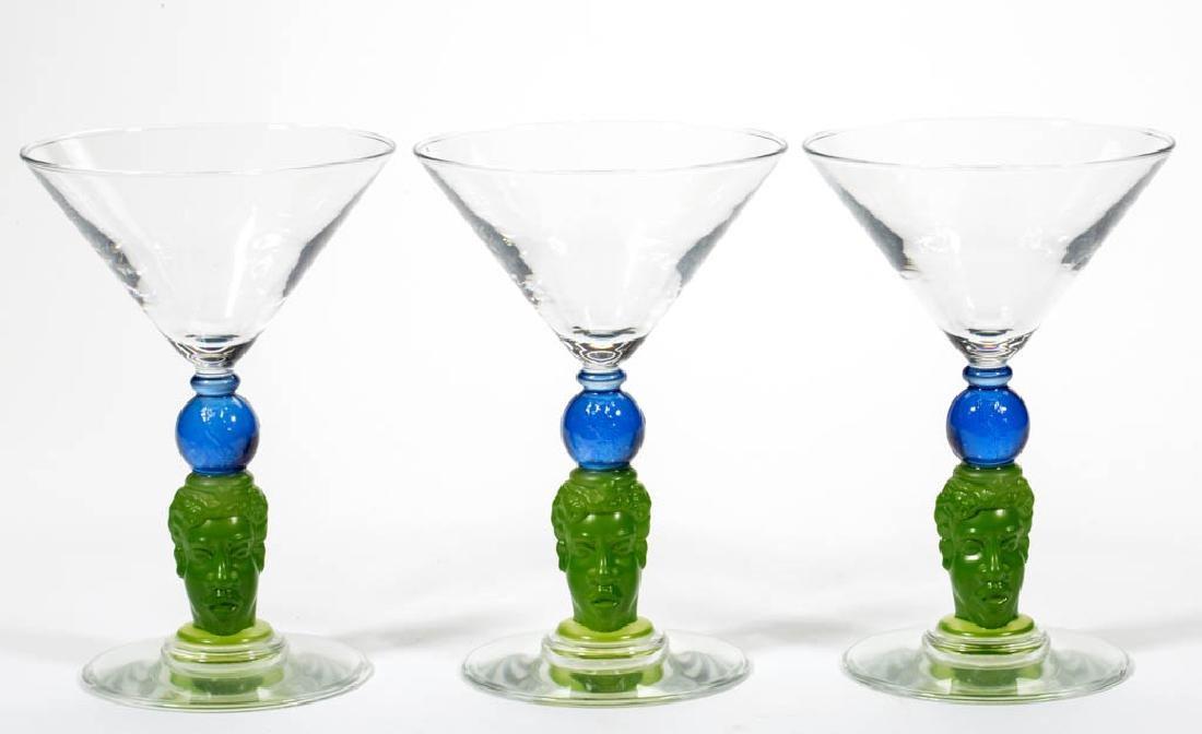 RICHARD JOLLEY BOMBAY SAPPHIRE MARTINI GLASSES, LOT OF