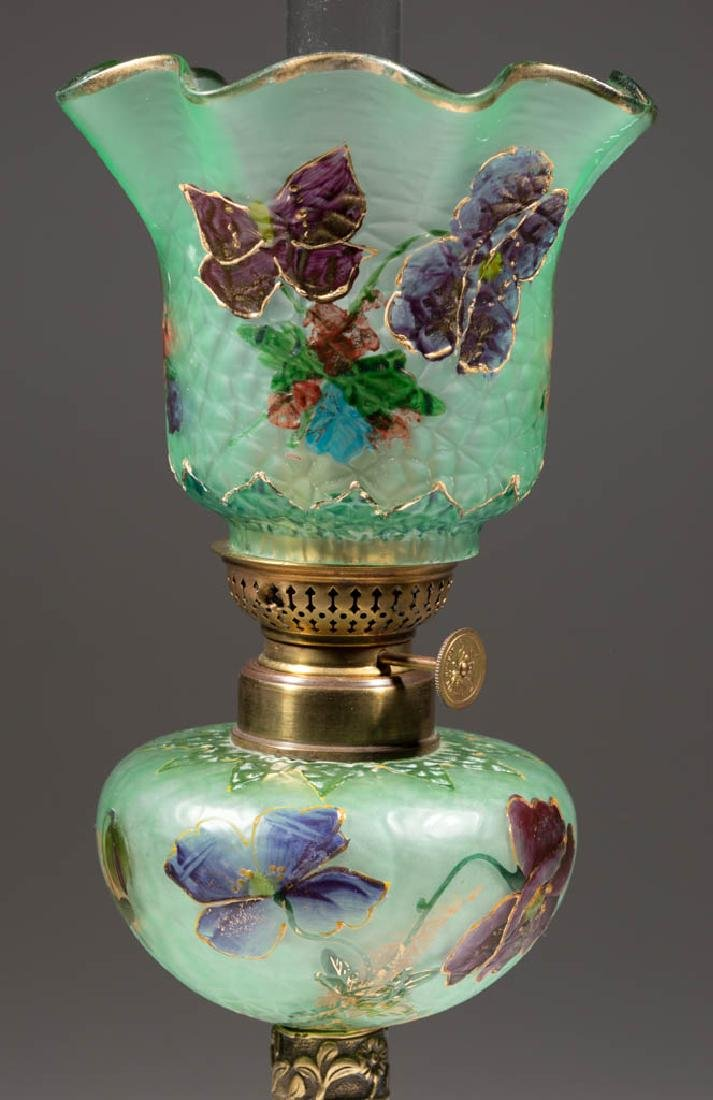 VICTORIAN DECORATED PEG LAMP