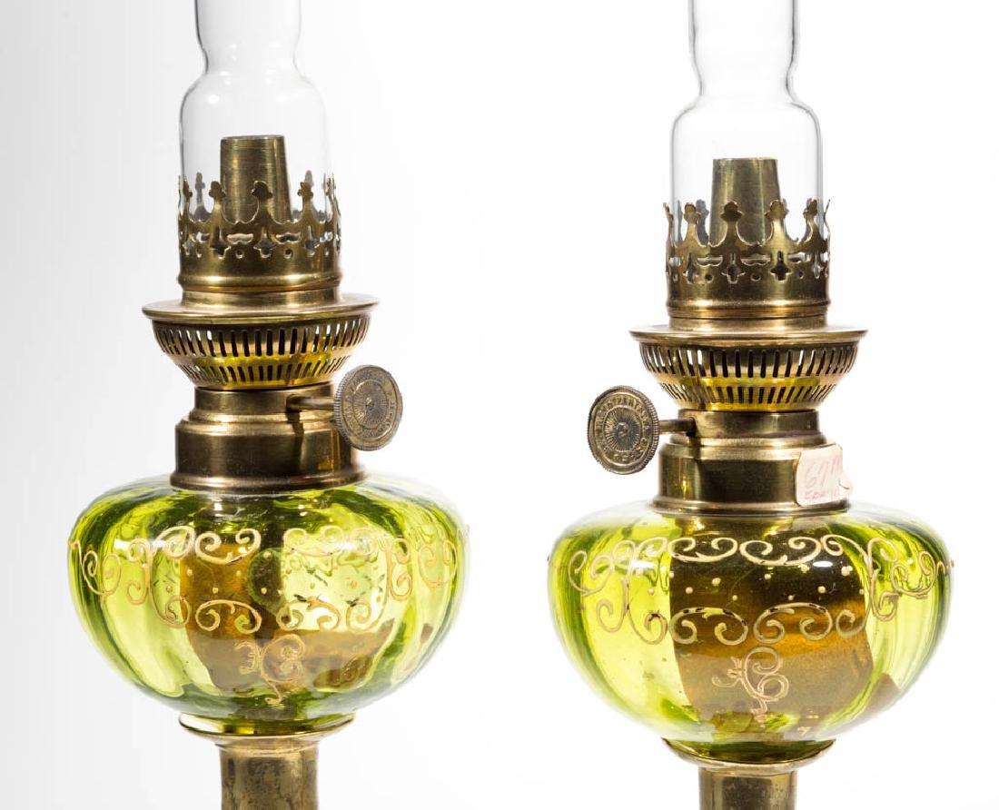 PANEL OPTIC PEG LAMPS, PAIR