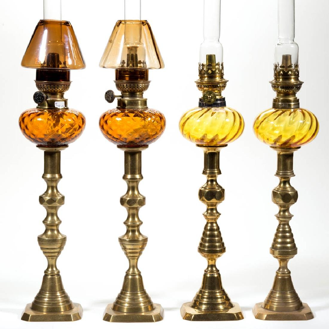 ASSORTED OPTIC PEG LAMPS, TWO PAIR