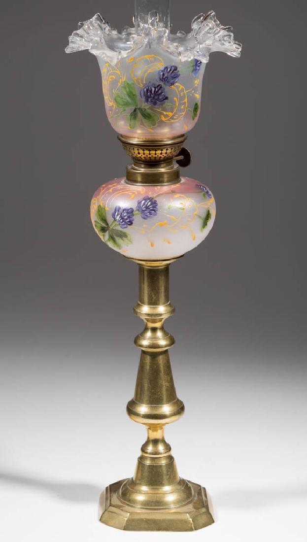 VICTORIAN DECORATED PEG LAMP - 2