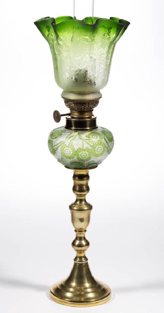 ACID CUT BACK CAMEO-TYPE FLORAL PEG LAMP - 3