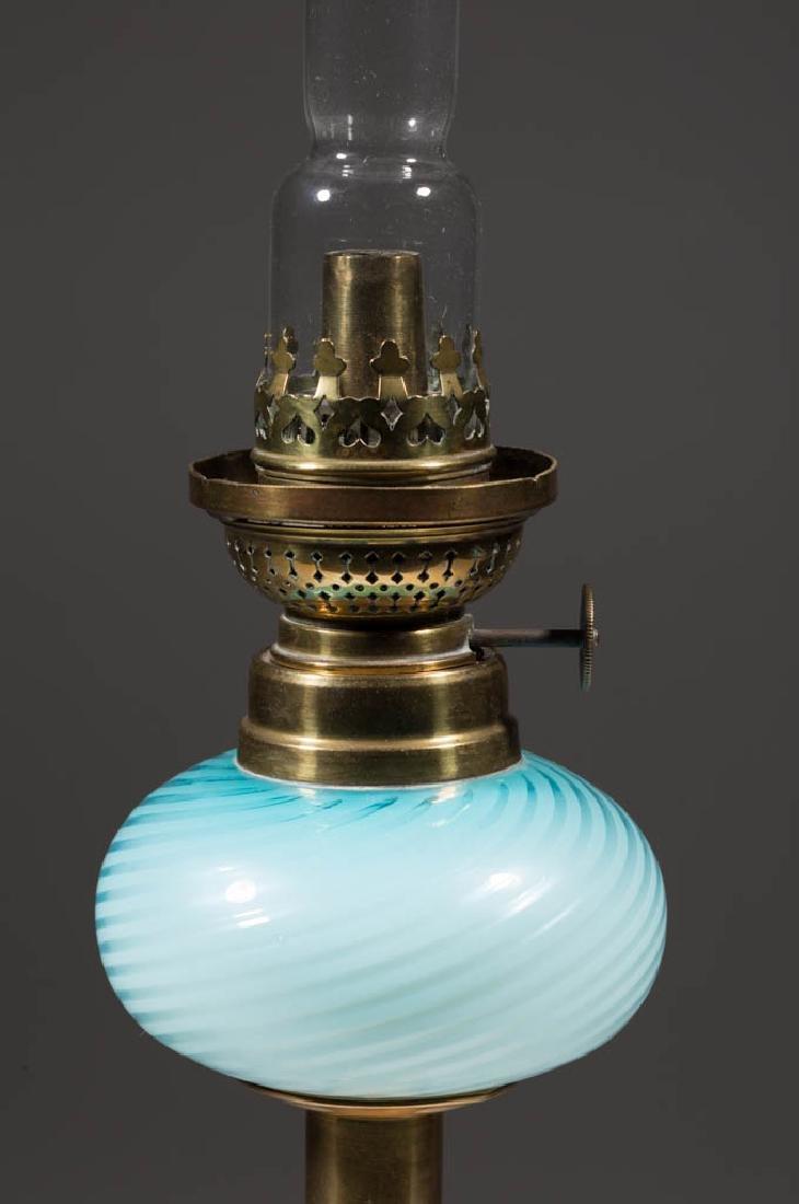 SWIRL CASED GLASS PEG LAMP