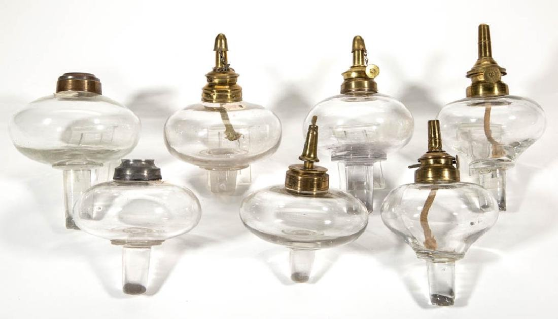 ASSORTED FREE-BLOWN AND MOLD-BLOWN FLUID PEG LAMP