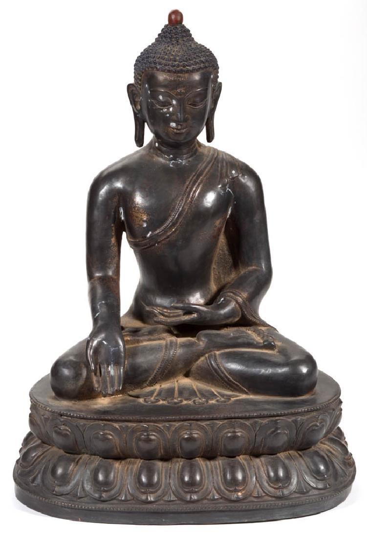BRONZE BUDDHA FIGURE