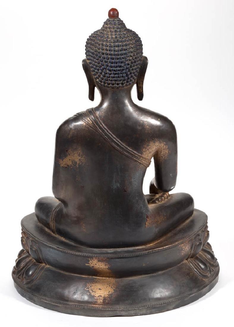 BRONZE BUDDHA FIGURE - 3
