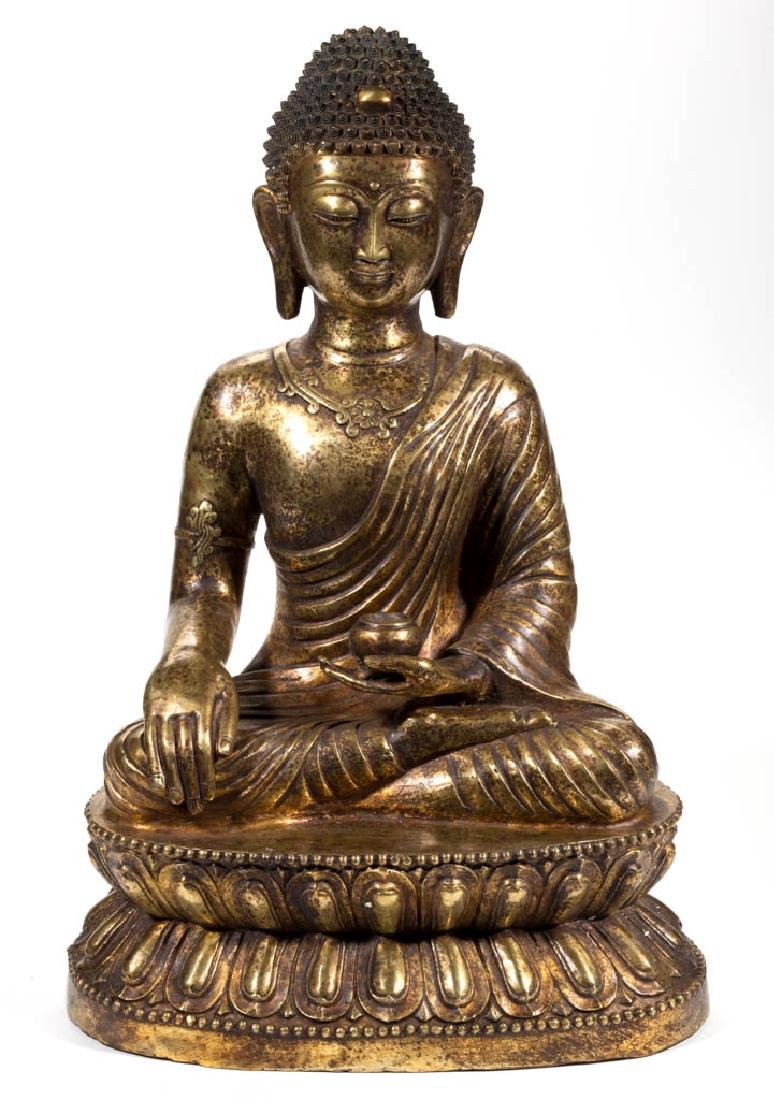 BRONZE / BRASS BUDDHA FIGURE