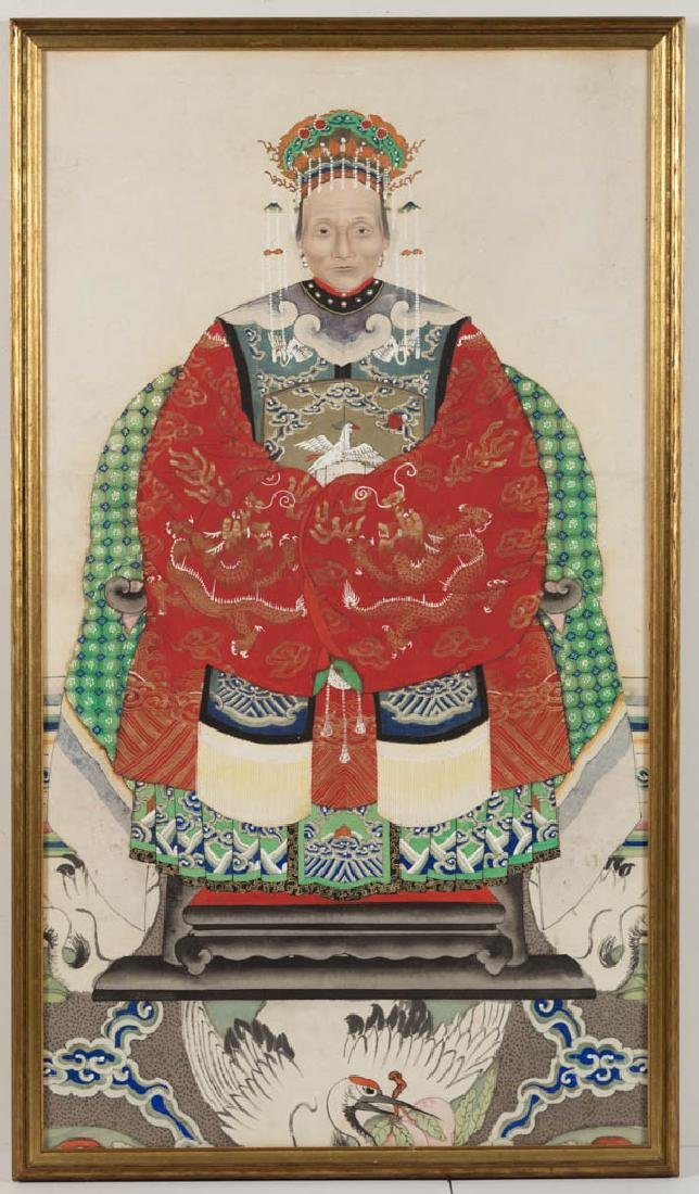 CHINESE ANCESTOR PORTRAIT PAINTING