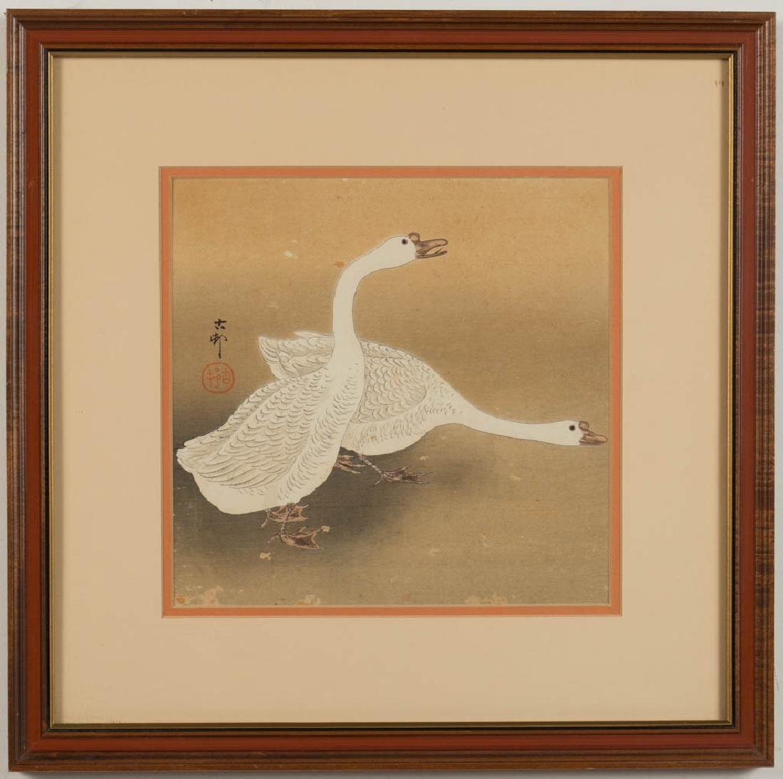 JAPANESE BIRD / ANIMAL PAINTINGS, LOT OF FOUR - 2