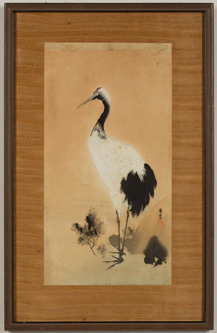 JAPANESE BIRD / ANIMAL PAINTINGS, LOT OF FOUR - 8