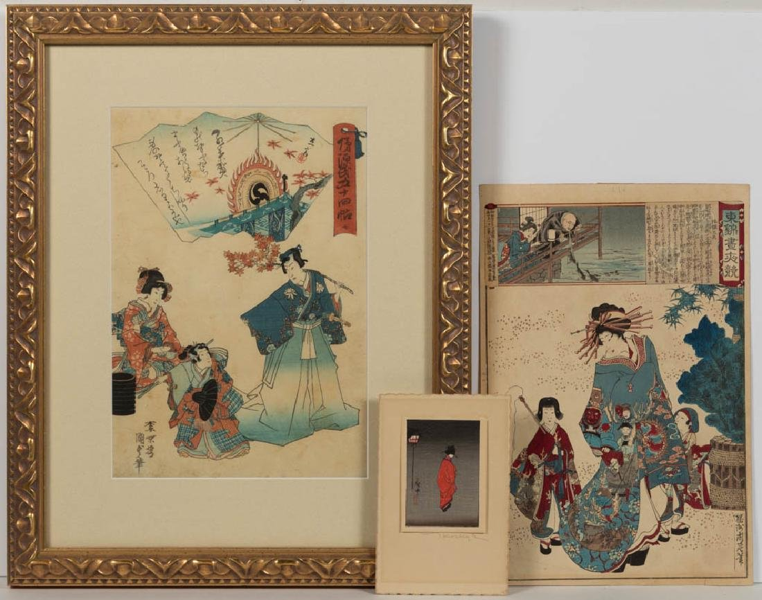 JAPANESE UKIYO-E WOODBLOCK PRINTS, LOT OF TWO