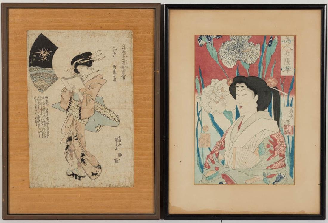 JAPANESE UKIYO-E WOODBLOCK PRINTS, LOT OF TWO