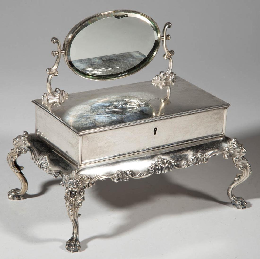 STERLING SILVER MINIATURE DRESSING TABLE FIGURAL