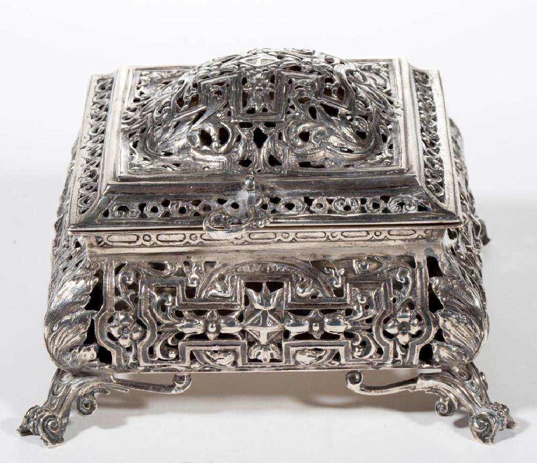 CONTINENTAL COIN SILVER DRESSER BOX