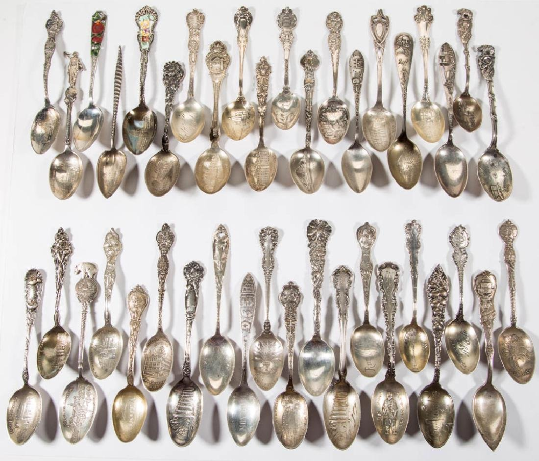 WESTERN STATES STERLING SILVER SOUVENIR SPOONS, LOT OF