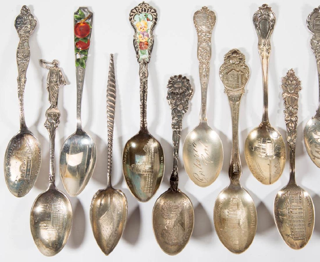 WESTERN STATES STERLING SILVER SOUVENIR SPOONS, LOT OF - 2