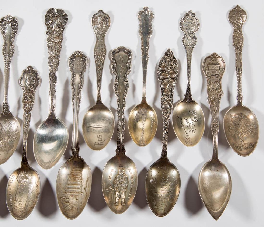 WESTERN STATES STERLING SILVER SOUVENIR SPOONS, LOT OF - 5