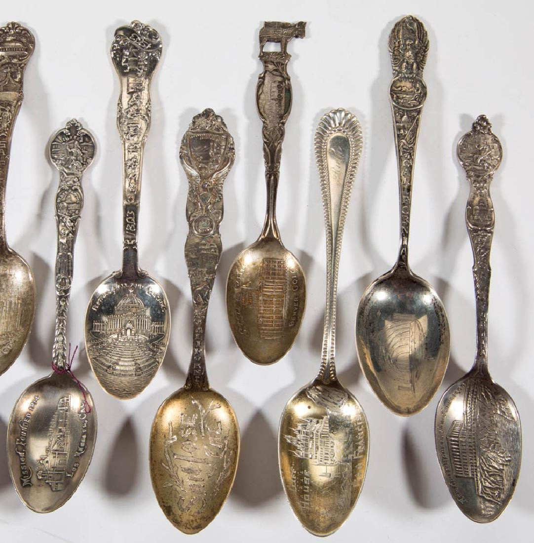 WESTERN STATES STERLING SILVER SOUVENIR SPOONS, LOT OF - 3